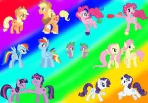 my pony colors my pony transforms gender mane 6 everypony