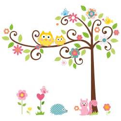 Owl Tree Wall Stickers large owl tree art decal removable vinyl stickers kids