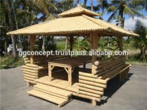 jardin bambou gazebo avec bambou toit 1 table 224 l