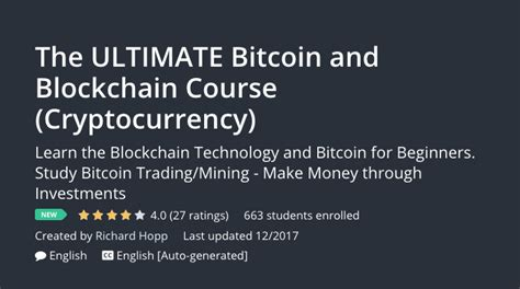 blockchain ultimate guide to understanding blockchain bitcoin cryptocurrencies smart contracts and the future of money books bitcoin crypto and blockchain courses around the world