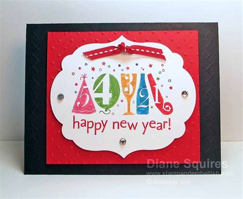 Handmade New Year Cards Ideas - happy new year handmade card happy new year