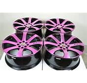 Pink And Black Rims For