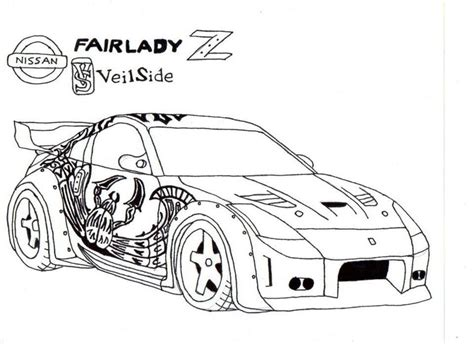 370z Coloring Page by Tokyo Drift Car Coloring Pages Coloring Pages