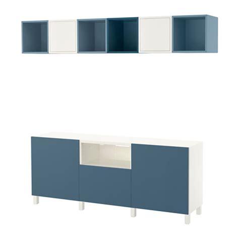 besta eket best 197 eket cabinet combination for tv white light blue