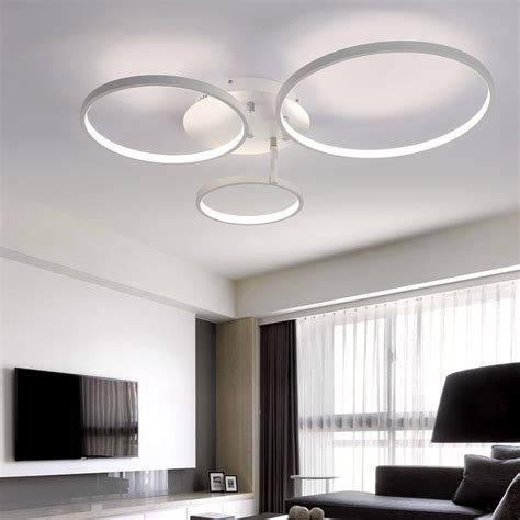 Living Room Led Ceiling Lights Aliexpress Buy New Arrival Circle Rings Designer Modern Led Ceiling Lights L For Living