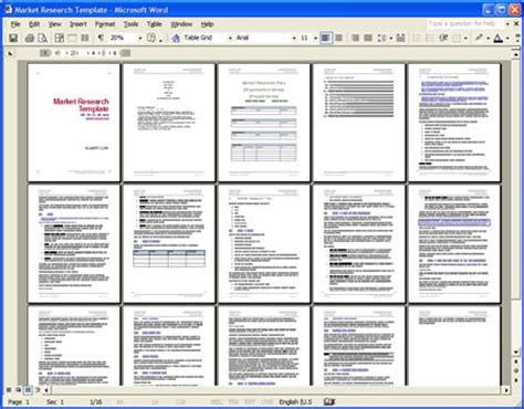 market research document template market research template ms word and excel downloads
