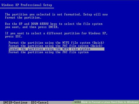 format hard disk using linux how to format a linux hard disk to windows 12 steps