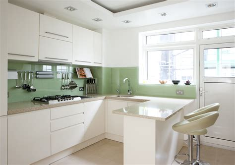 Glass Cabinets In Kitchen latest trend bold colour splashbacks amberth interior
