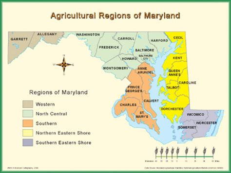 maryland agriculture map maryland agricultural regions