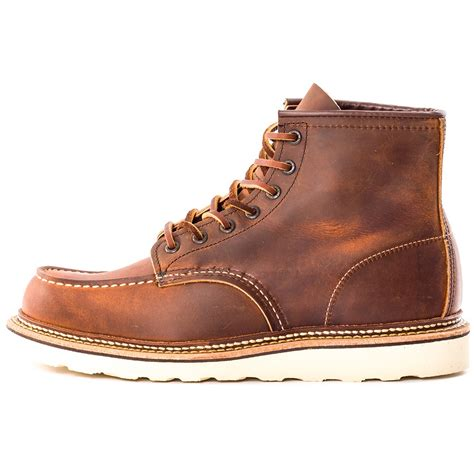 preppy mens boots wing classic moc 1907 mens boots in copper