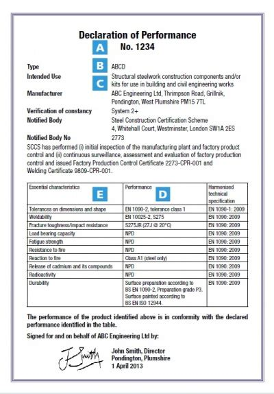 Ce Marking Steelconstruction Info Ce Label Template