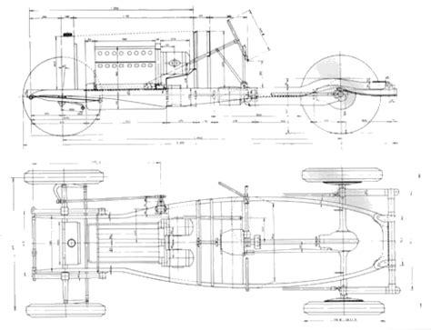 Car Frame Types by Car Blueprints Bugatti Type 45 Chassis Blueprints