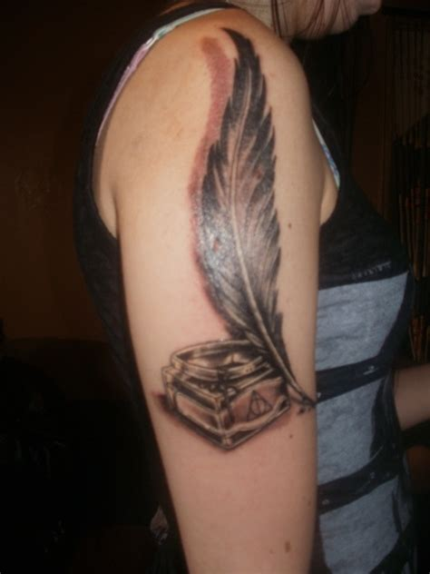 tattoo pen st quill ink bottle tattoo done by lee at skin kandi in st
