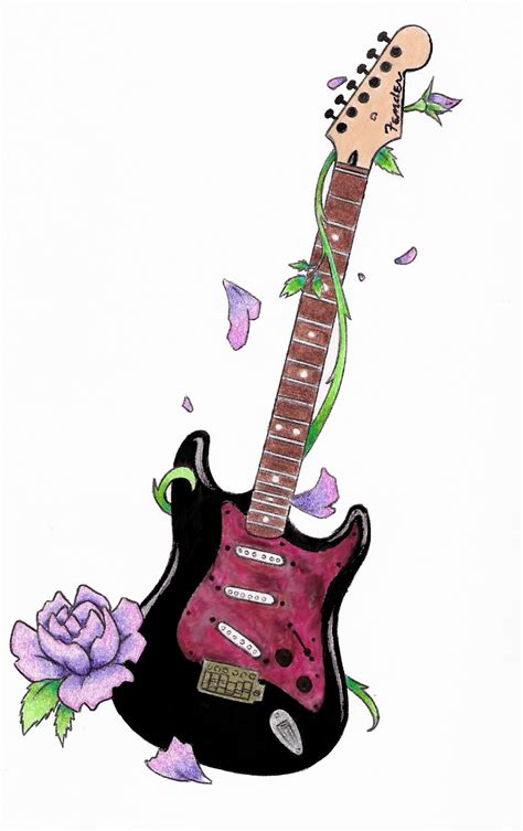 guitar design tattoo cool guitar design ideas tattoomagz