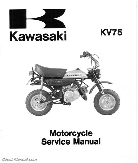 motocross bike repairs 1971 1980 kawasaki mt1 kv75 motorcycle service manual