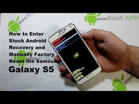 reset android s5 galaxy s5 manual factory reset with stock android recovery