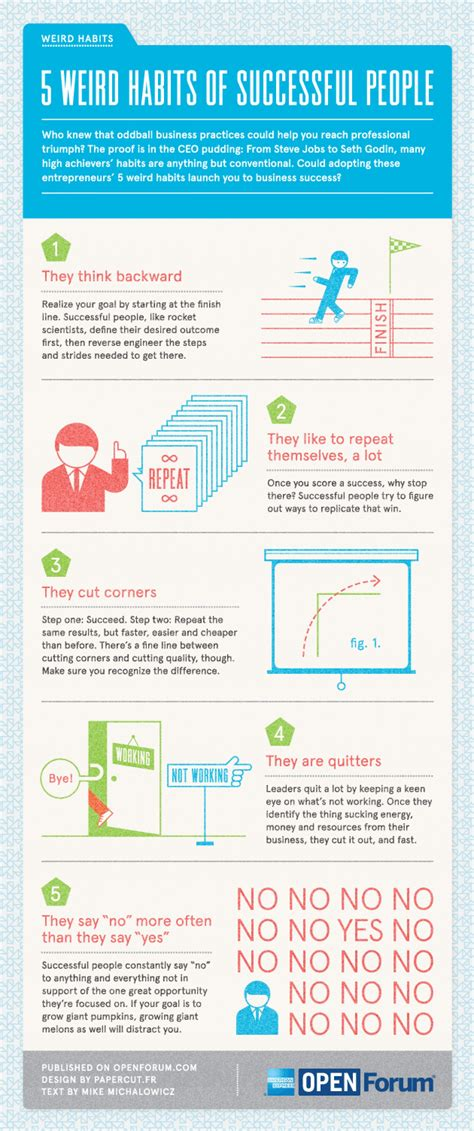 Infographic 24 Daily Habits That Will Make You Smarter Designtaxi 5 Unconventional Habits That Ll Make You Successful