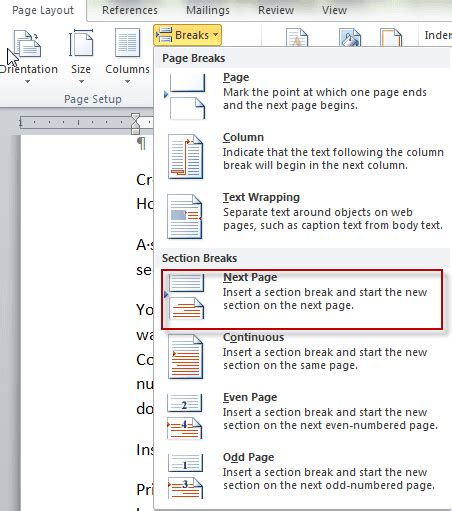 section header layout powerpoint 2010 word 2010 advanced headers and footers