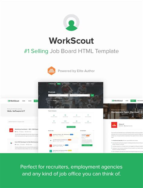 download free workscout job board html template