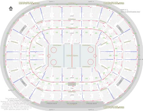 layout view c chicago united center chicago blackhawks nhl hockey game