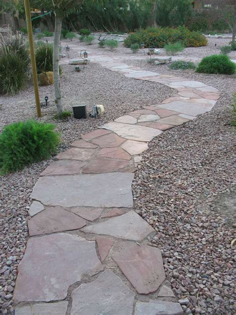 rock pathways how to use landscape rock for your las vegas landscaping