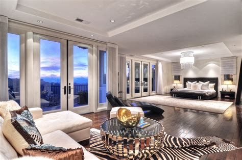 contemporary master bedrooms contemporary master bedroom with chandelier hardwood floors in newport coast ca