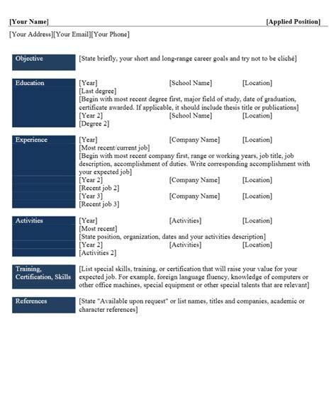 format curriculum vitae yang menarik contoh format curriculum vitae yang menarik contoh surat org
