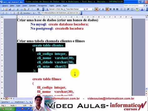 01 curso de oracle 10g create table select funnydog tv