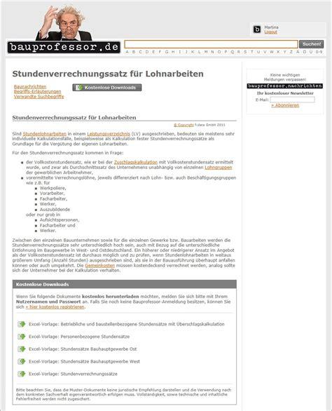 Kostenlose Vorlagen Excel Praktische Excel Vorlagen Bei Bauprofessor De Pressemeldung Vom 25 08 2011