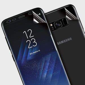 Invisible Armor Tpu Screen Guard Samsung Galaxy S8 olixar front and back samsung galaxy s8 tpu screen protectors