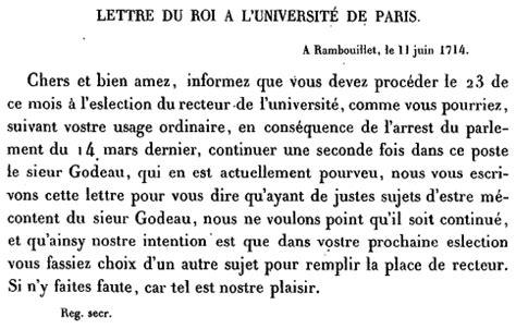 Lettre De Cachet De Louis Xiv Louis Xiv Interdiction De R 233 233 Lire Le Recteur Michel Godeau Lettre 224 L Universit 233 De 11