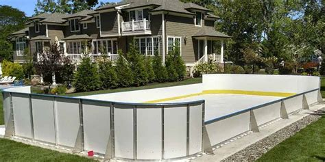 synthetic ice basement and backyard rink kits hockey