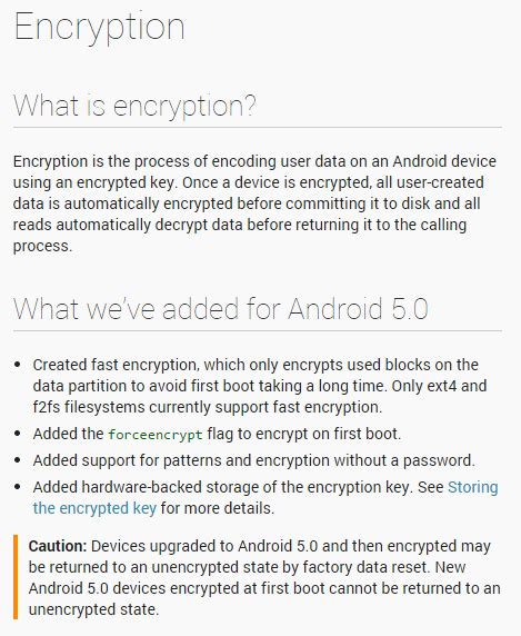 how to unencrypt android lollipop unencrypted vs encrypted disk speeds android