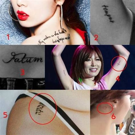 Tattoo Of Hyuna | 119 best images about korean celebrity tattoos on