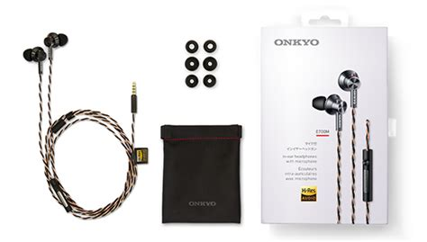 Onkyo Hi Resolution In Ear Earphone With Mic E700m e700m high res in ear headphones with mic