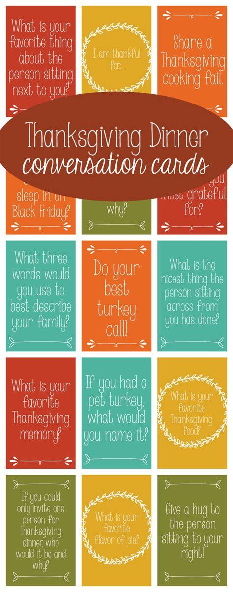 printable thanksgiving conversation cards thanksgiving dinner conversation cards
