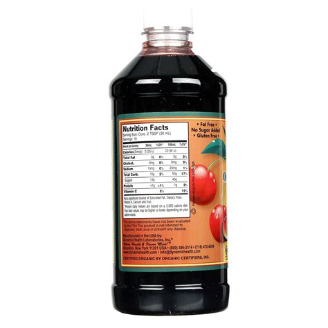 Tart Cherry Juice Liver Detox by Evitamins Dynamic Health Laboratories Organic Tart