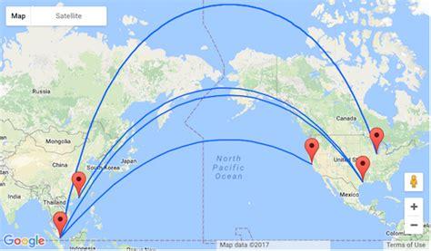 san francisco to hong kong map delta houston san fran and chicago to singapore or hong