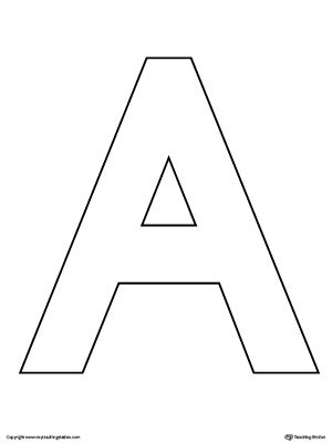 uppercase letter a color by letter worksheet myteachingstation
