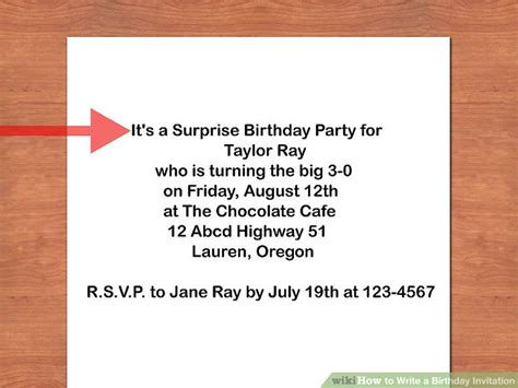 What To Write In A 4 Year Birthday Card How To Write A Birthday Invitation 14 Steps With Pictures