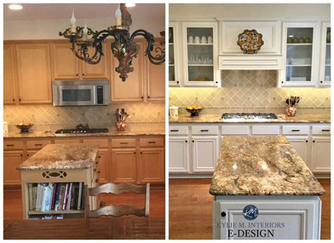 Kitchen Cupboard Paint Before And After - edesign painted maple cabinets a gorgeous white