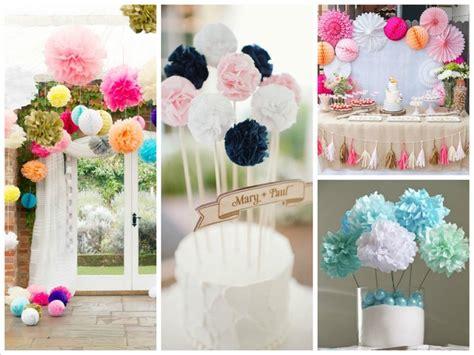 whats   wedding decoration ideas pom poms blog