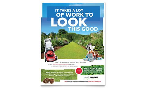 15 lawn care flyers free examples advertising ideas landscape