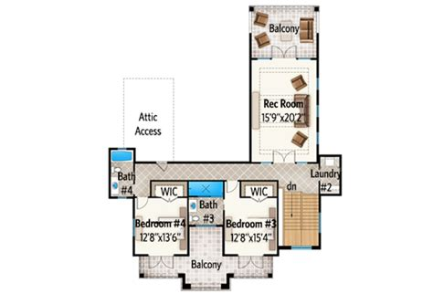rec room floor plans spacious florida house plan with rec room 86012bw