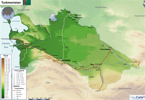 physical map of turkmenistan physical features turkmenistan