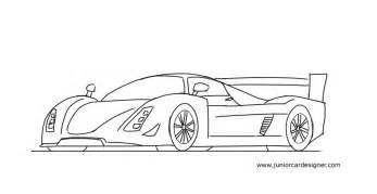 How To Draw Car How To Draw A Le Mans Race Car Junior Car Designer