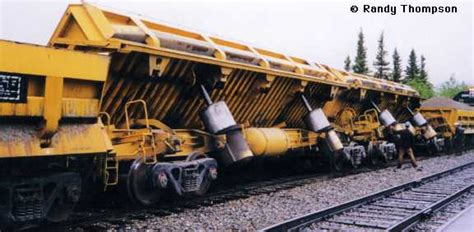 Alaska Car Dump Yard by Freight And Passenger Cars Difco Dump Car
