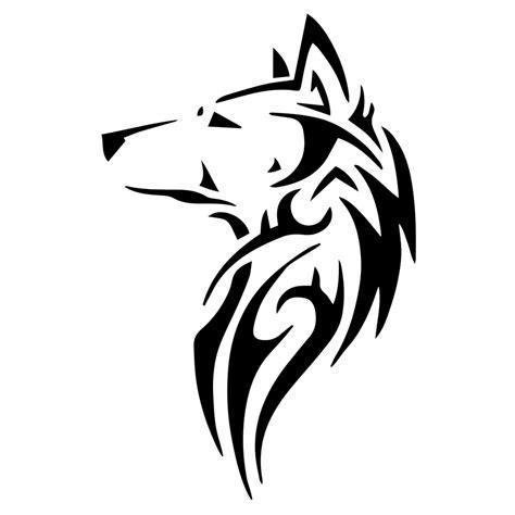 Sticker Beat Pop Pixel Black tribal wolf silhouette vinyl sticker car decal