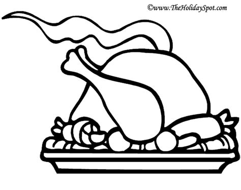 roast turkey coloring page turkey to color clipart clipart suggest