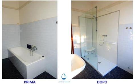 sostituire doccia sostituzione vasca con doccia